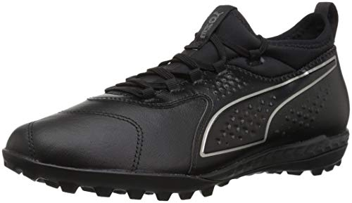 PUMA Men's ONE 3 LTH TT Soccer Shoe, Black Black Black, 13 M US