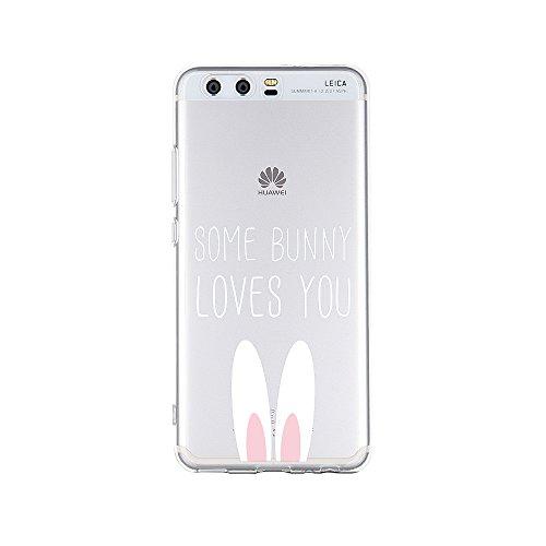 licaso Handyhülle kompatibel für Huawei P10 I Schutzhülle aus TPU mit Some Bunny Loves You Print I Transparente Hülle Handy Aufdruck I Weich Silikon Durchsichtig