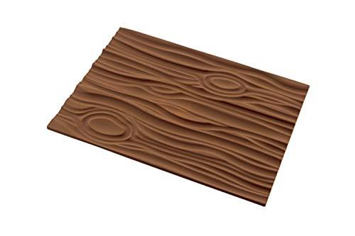 silikomart Tappeto Decorativo in Silicone Magic Wood Mat, Marrone, 25 x 18.5 x 0.6 cm