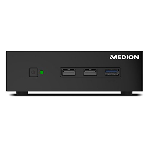 MEDION AKOYA S1503 D Mini-PC-System (Intel Celeron N2808, 2GB DDR3L RAM, 32GB eMMC, Intel HD-Grafik, WLAN, Bluetooth 4.0, Win 10 Home) schwarz