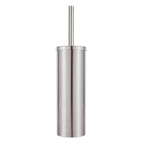 DOWRY Stainless Steel Freestanding Toilet Bowl Brush and Holder with Long Handle for Bathroom Storage Organization,Sturdy Deep Cleaning Toilet Bowl Cleaner Brush ,Nickel SS202-3