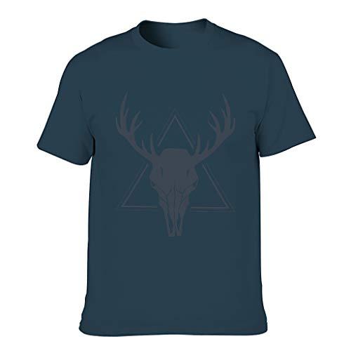 Camiseta de algodón con cabeza de ciervo con calavera para hombre - Animal Personalizar Top Wear