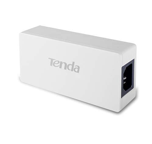 Tenda PoE30G-AT PoE Gigabit Adapter (1000 Mbit/S + 15/30 Watt Strom für z.B. Access Points oder IP-Kameras, 100 Meter PoE, Plug & Play) Schwarz