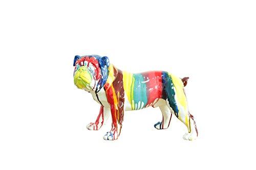 Meubletmoi Chien Carlin décoration Maison - Multicolore - Art Moderne