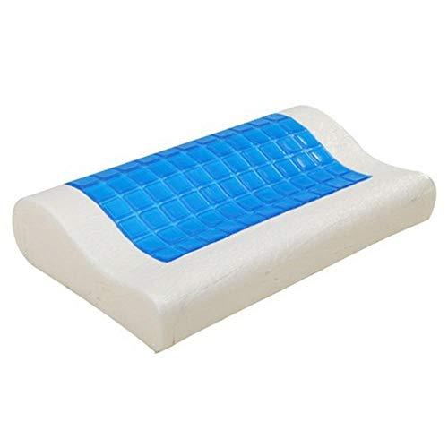 Llxxx Almohada-Almohadas del Cuello del sueño de la Ayuda ortopédica Reversible del Gel de enfriamiento de la Almohada de la Memoria para la Oficina en casa