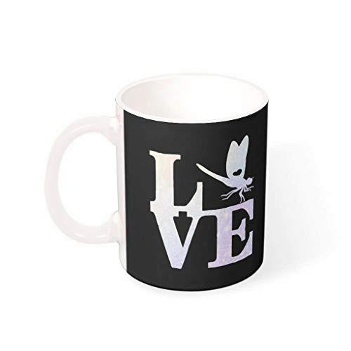 FFanClassic Taza de café de libélula de cerámica lisa retro moderna – taza de agua para mascotas para la oficina para aniversario blanco 330 ml