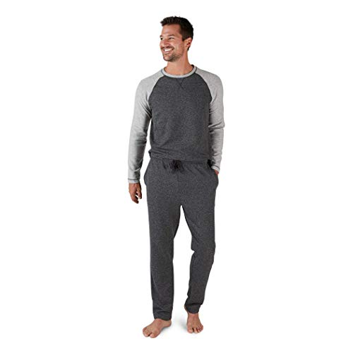 Eddie Bauer Men's Pajama Set, Comfortable Raglan Shirt and Pants Sleepwear Set