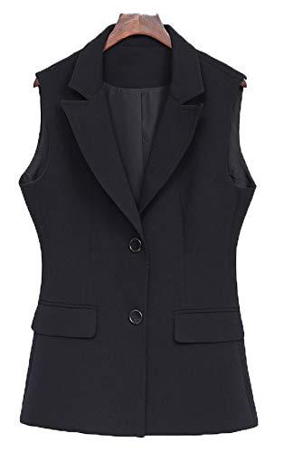 CYSTYLE Damen übergröße Weste Anzug Weste MODERN Kellnerweste Slim Fit für Große Größen (50)
