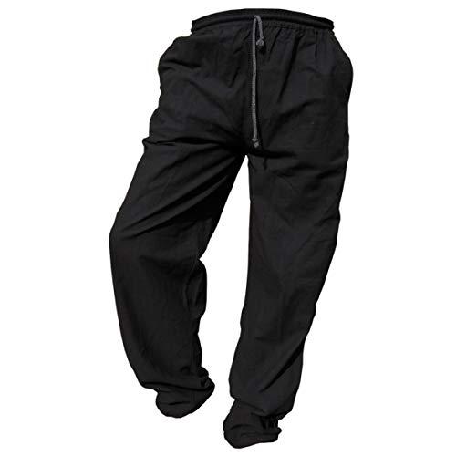 PANASIAM E'Pants Long, Cotton, Black, L