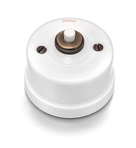 Fontini - pulsador formato especial porcelana blanca Ref. 6583010027