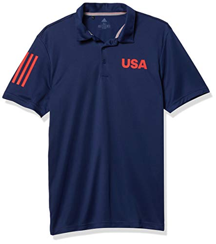 adidas Golf USA Golf Polo Shirt, Dark Blue, Large