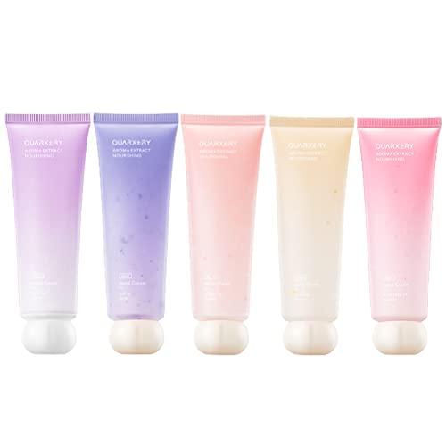 Juego de crema de manos, 5 unids hidratante fragancia natural crema de manos masaje loción anti-agrietamiento nutritiva cuidado de manos