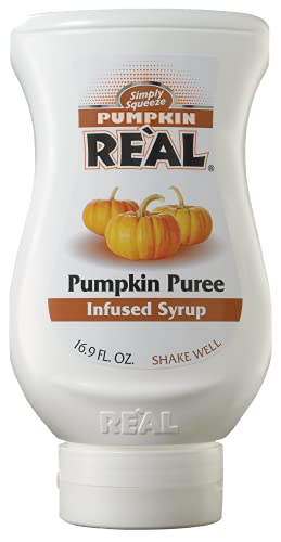 Pumpkin Reàl, Pumpkin Spice Puree Infused Syrup, 16.9 FL OZ Squeezable Bottle (Pack of 1)