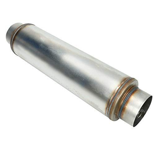 BLACKHORSE-RACING 5 Inch Inside Inlet Outlet Muffler, Universal Mechanical Welded Muffler Exhaust Deep Sound for Cars, 30' Overall Length