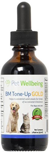 Pet Wellbeing Gold Tone-Up BM per I Gatti - Il Supporto Naturale per Perdita di Feci Feline. - 2 Oz (59Ml)