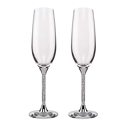 Champagne Glazen Set van 2 Luxe K9 Crystal Toasting Fluiten 230Ml 19.7