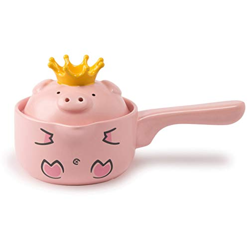 Learn More About Hot Pots Pot Pig Cartoon Pot With Handle Pot Easy To Clean Heat-resistant Crown Cer...