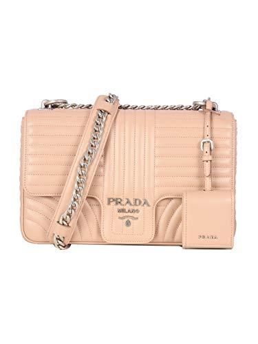 Luxury Fashion | Prada Dames 1BD135VCOX2D91F0PLD Roze Leer Schoudertassen | Lente-zomer 20