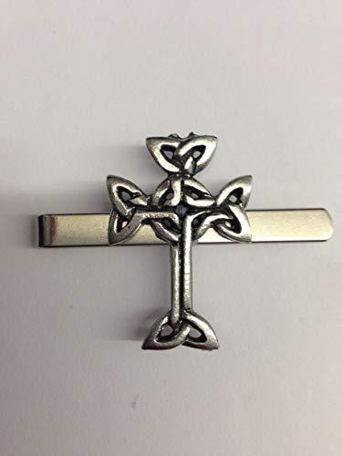 Krawattenspange aus englischem Zinn, Design: keltischer Baum des Lebens/Keltisches