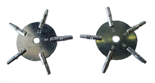 Universal POCKET WATCH Key Set, Odd und Even Sizes from Brass Blessing (5020-21)