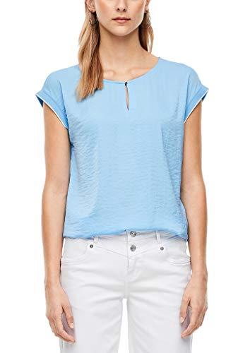 s.Oliver Damen Blusenshirt mit Satinfront Light Blue 44