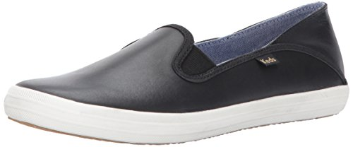 Keds Women's Crashback Leather Fashion Sneaker,New Black,9 M US