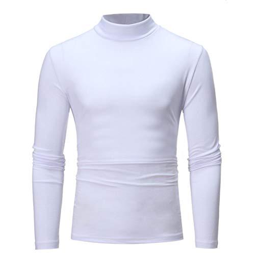 MRULIC Herren Pullover Sweater Kapuzenpullover Sweatjacke Hoodie Sweatshirt (Weiß,EU-52/CN-3XL)