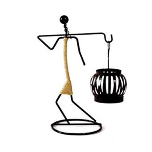 Fikujap Comedor la Tabla del sostenedor de Vela decoración casera de Estilo Europeo, Restaurante Chino Dormitorio Lindo Ambiente Simple Arte Retro Cena del Norte,D