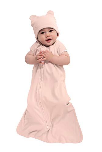 Cuddle Club Baby Schlafsack aus Baumwollstoff, tragbare Schlafsack, Bear - Pink, Small