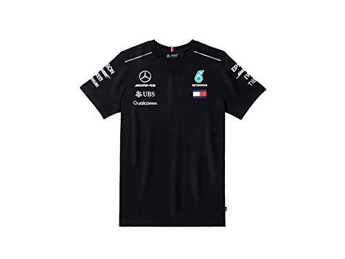 MB Camiseta para Hombre Mercedes-Benz de Fórmula 1 Temporada 2018 Negro M