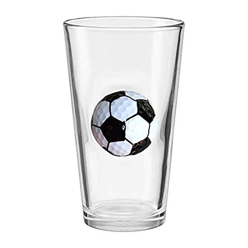 Ölglas med fotboll och basket inbäddat handtag för män presenter, fotboll basketspel världscup souvenir presenter, 460 ml gigantisk ölmugg klara glasögon festkoppar