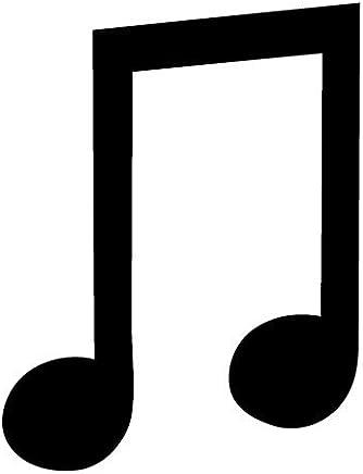 ピクトグラム 8分音符-2連符 ステッカーデカール (黒色 )