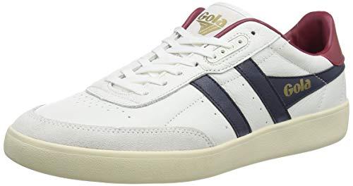 Gola Herren Inca Leather Sneaker, White/Navy/Deep Red, 43 EU