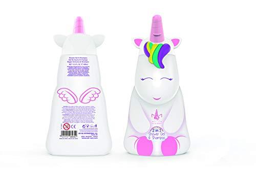 Eau My Unicorn Unicorn 2in1 Duschgel & Shampoo, mit milder Pflegeformel – 2D Figur Einhorn, 400 ml