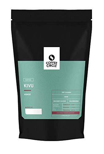 Coffee Circle | Premium Kaffee Kivu | 1kg ganze Bohnen | Vollmundiger Filterkaffee mit würzigem Nachgeschmack | 100% Arabica Blend | fair & direkt gehandelt | frisch & schonend geröstet