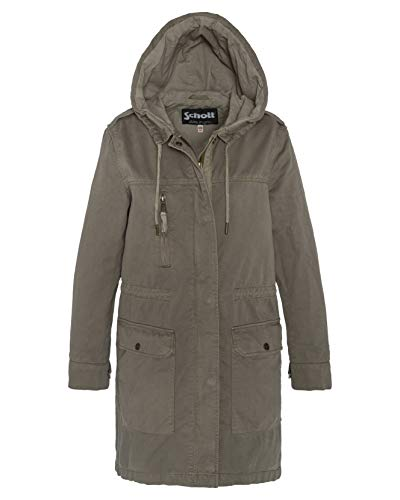 Schott NYC Damen Jktchiefmawx Bomberjacke, Grün (Light Kaki Light Kaki), X-Large