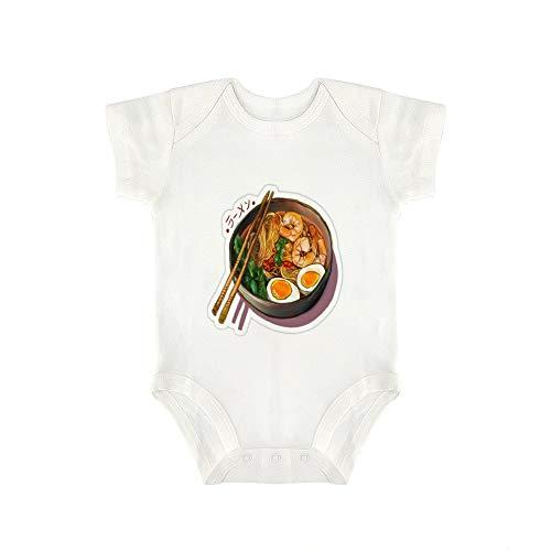 DKISEE Baby-Body mit handgezogenen Nudeln, lustig, für Jungen und Mädchen