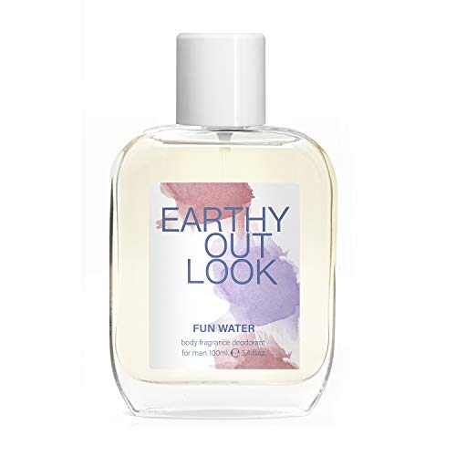 Fun Water, Earthy Outlook Deodorant Body Fragrance for Men, profumo da uomo, 100 ml, confezione da 2
