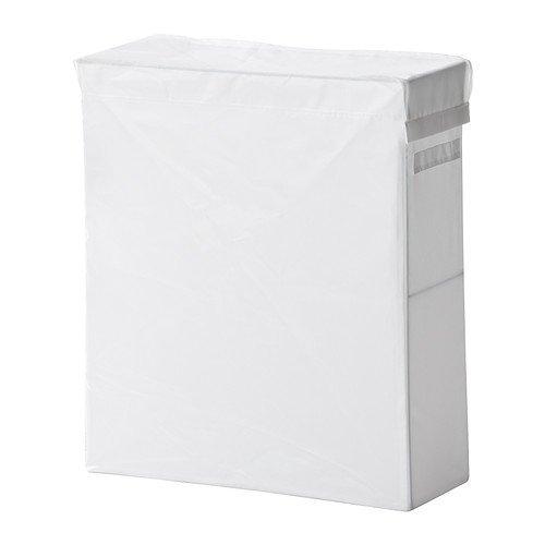IKEA SKUBB Hängeaufbewahrung-Wäschesammler mit Ständer, Weiß, 80 l