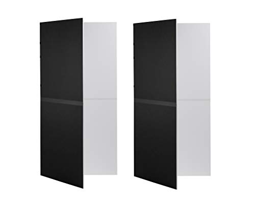 V-Flat World Foldable V-Flat, Set of 2, Black/White - Photography Board