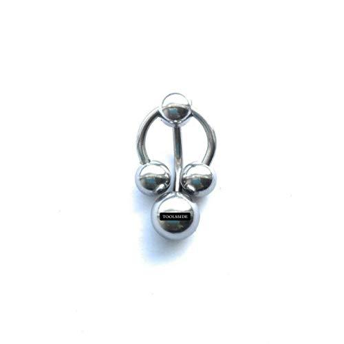 TOOLSSIDE VCH Jewelry Vertical Hood - 4 Balls Vertical Hood Piercing Jewelry for Women - 14G Curved Barbell GENITAL Piercing