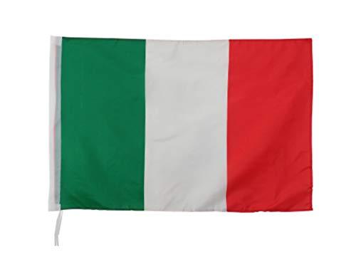 DUE ESSE DISTRIBUZIONI S.R.L. Bandiera Italiana Tricolore Grande 60x90 Con Passante Per Asta e lacci, da Esterno ed interno, Tessuto Anti strappo
