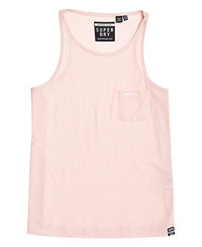 Superdry OL Essential Tank Camiseta sin Mangas, Rosa (Kiss Pink Rv8), XL (Talla del Fabricante:16) para Mujer