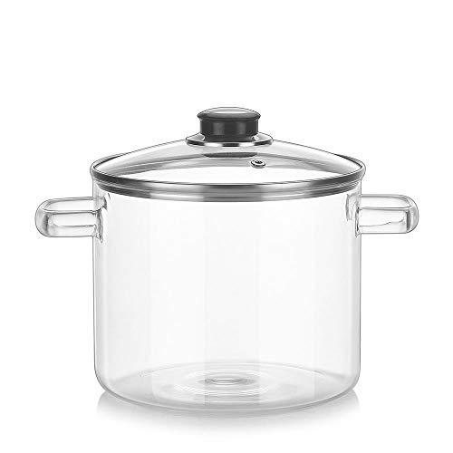 DYXYH Alta Temperatura del Vidrio Cazo de Cristal Soup Bowl Pot Desayuno Leche Olla de Fideos instantáneos Pan de Cocina Utensilios de Cocina