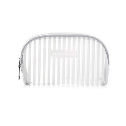 Jingyuu Sac Maquillage Transparent stéréoscopique de douche Trousse de toilette pour voyage Cosmétique de stockage White Small Oval 11 * 18 * 5cm