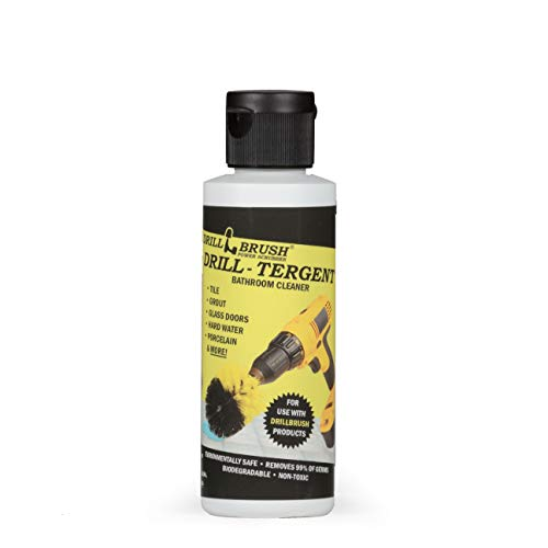 4oz Drill Tergent All Purpose Cleaning Solution by Drill Brush Power Scrubber by Useful Products – Multi Surface Cleaner – Biodegradable – Removes 99% of Germs – Non-Toxic – Environmentally Safe