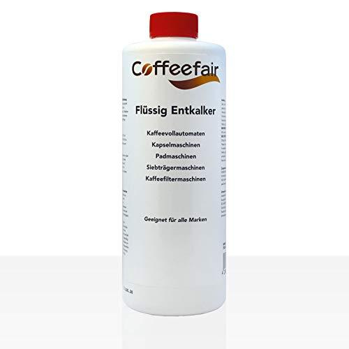 Coffeefair Flüssig-Entkalker 750ml für Kaffeevollautomaten, Kaffeefiltermaschine
