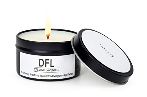 Fairway Premium Candles for Sports Lovers   All Natural Scented Vegan Soy Wax   Hand Poured in the USA   Golf-theme, DFL  Calming Lavender   6 oz