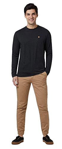 tentree Classic Longsleeve Shirt, L, Meteorite Black Heather