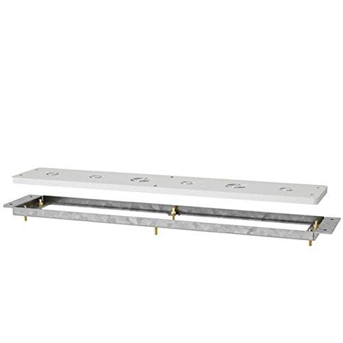 AVENARIUS Montageplatte für, Wannenrand-Armaturen, Serie Universal, HSN 9007600010